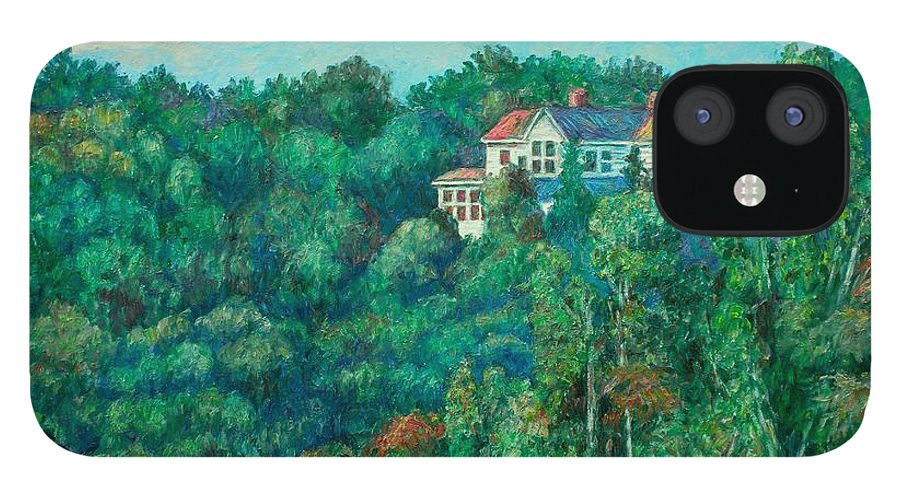 Landscape IPhone 12 Case featuring the painting Near Memorial Bridge by Kendall Kessler
