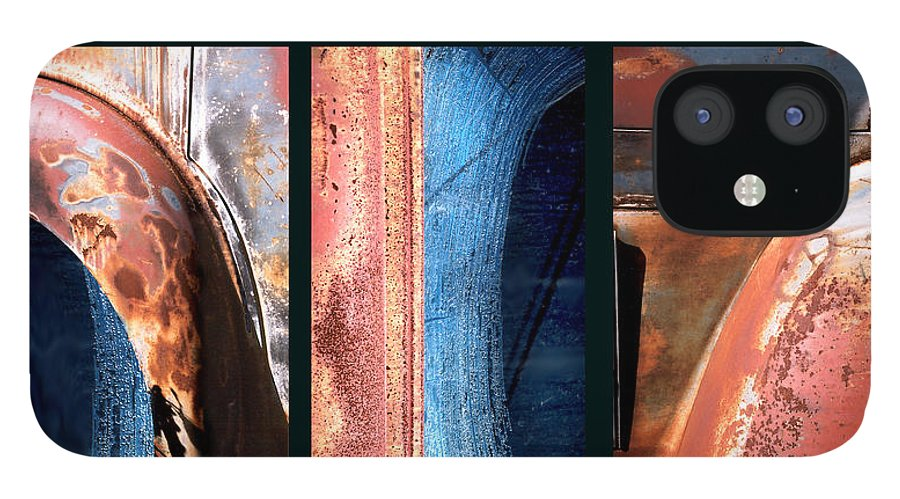 Abstract IPhone 12 Case featuring the photograph Ole Bill by Steve Karol