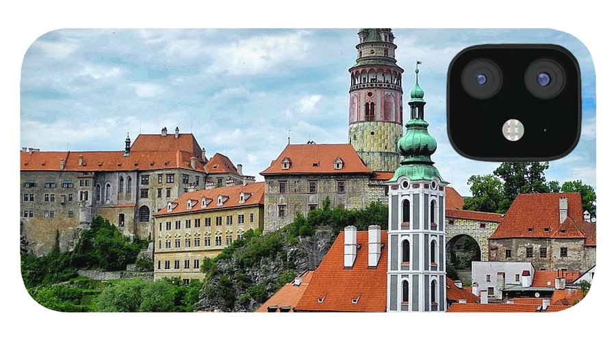 Cesky Krumlov IPhone 12 Case featuring the photograph Overview of Cesky Krumlov by Kirsten Giving