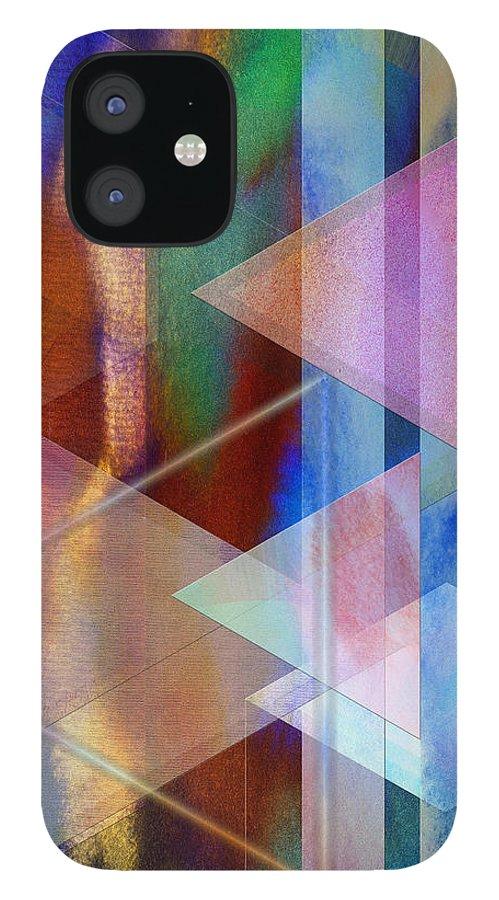 Pastoral Midnight IPhone 12 Case featuring the digital art Pastoral Midnight by John Robert Beck