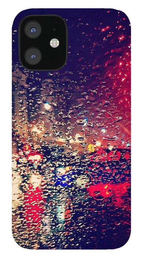 Street Scene IPhone 12 Case featuring the photograph Rain in San Francisco by Jose Machin