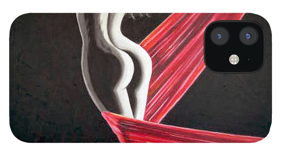 IPhone 12 Case featuring the painting Red by Jose Manuel Abraham