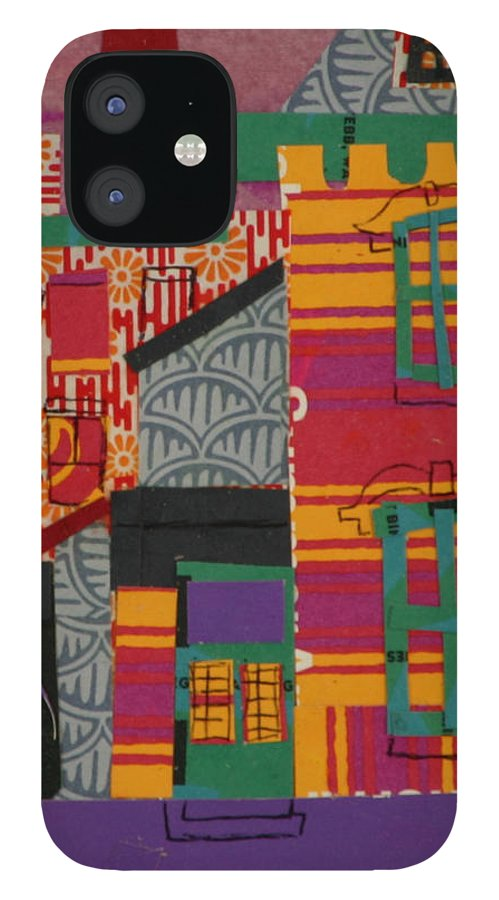Lowell IPhone 12 Case featuring the mixed media Revolving Museum by Debra Bretton Robinson