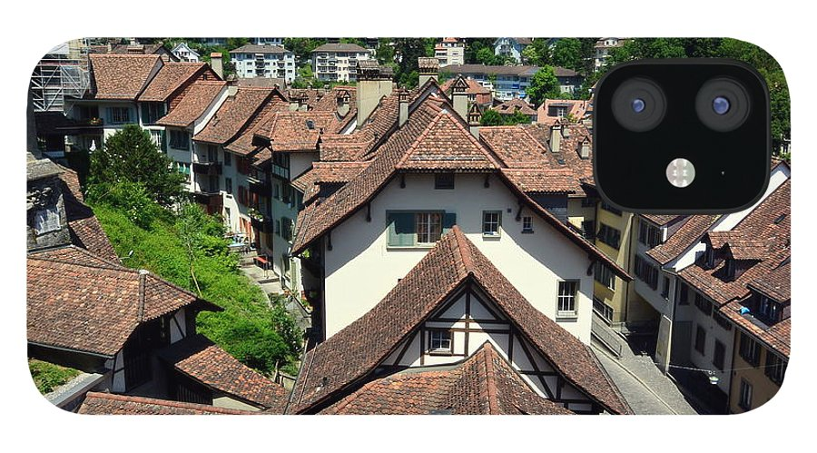 Red Rooftops IPhone 12 Case featuring the photograph Rooftops of Medieval Bern, Switzerland by Two Small Potatoes