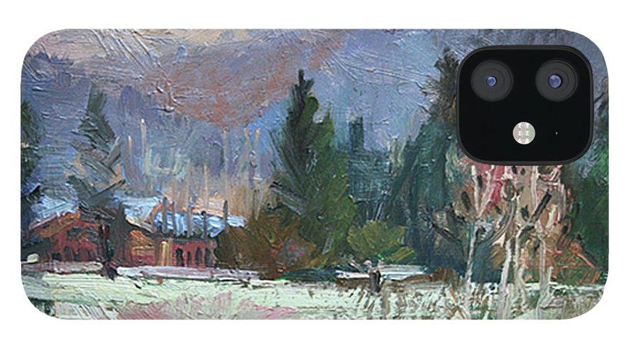 Plein Air Snow Scene IPhone 12 Case featuring the photograph Rough Winter by Betty Jean Billups