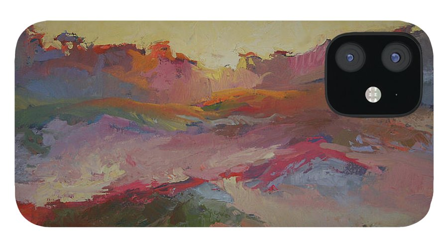Sand Dunes iPhone 12 Case featuring the painting Sand Dunes by Betty Jean Billups