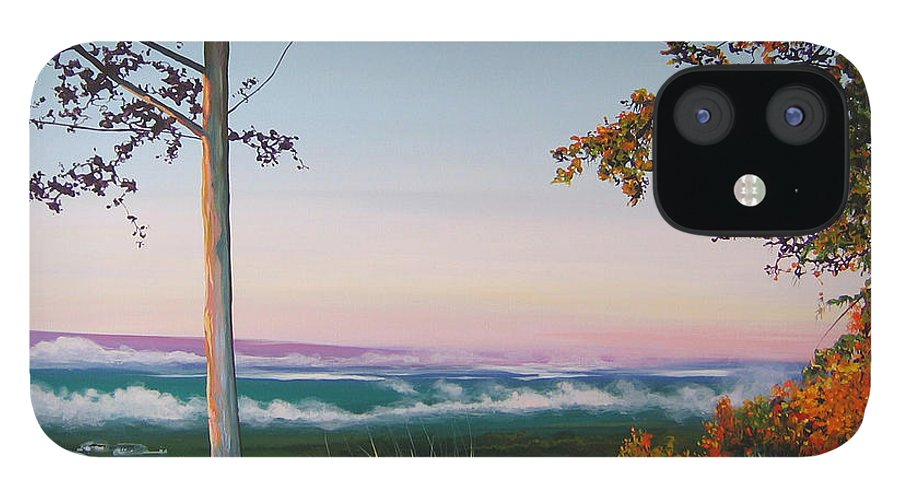 Landscape IPhone 12 Case featuring the painting September Sky by Hunter Jay