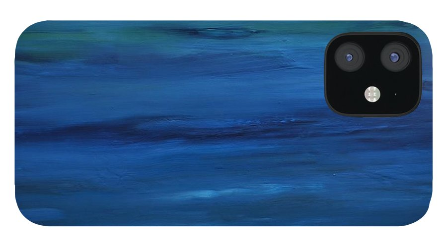 Shades IPhone 12 Case featuring the painting Shades of Blue by Jimmy Clark