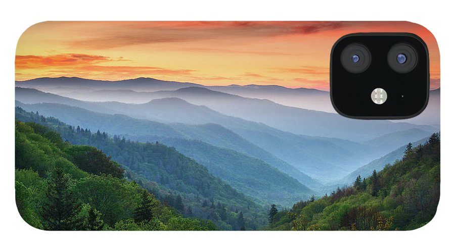 Great Smoky Mountains IPhone 12 Case featuring the photograph Smoky Mountains Sunrise - Great Smoky Mountains National Park by Dave Allen