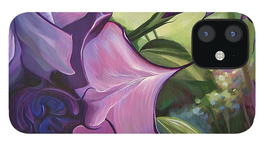 Jimson Weed IPhone 12 Case featuring the painting Sometimes In Summer by Hunter Jay