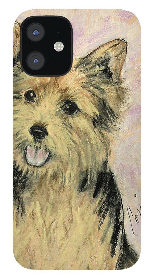 Dog IPhone 12 Case featuring the drawing Soulmate by Cori Solomon