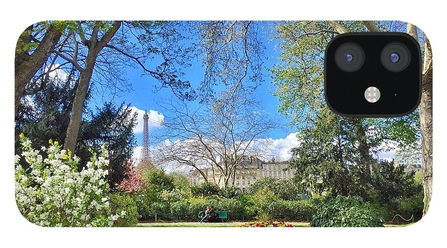 Paris IPhone 12 Case featuring the photograph Springtime in Paris by Scott Waters