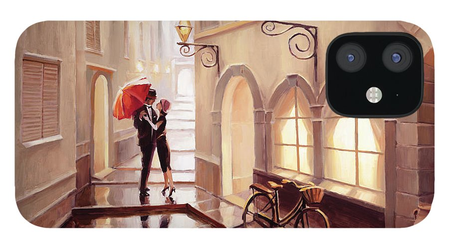 Love IPhone 12 Case featuring the painting Stolen Kiss 2 by Steve Henderson