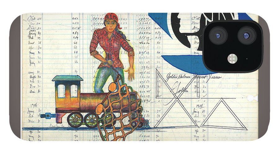 Suzanne Satiacum IPhone Case featuring the drawing Strong Women by Robert Running Fisher Upham