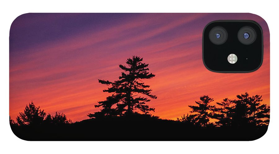 Sunset IPhone 12 Case featuring the photograph Summer Sunset by Trevor Slauenwhite