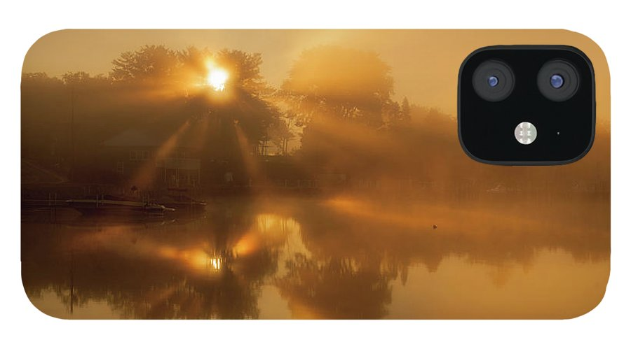 Sunbeams IPhone 12 Case featuring the photograph Sunbeams by Trevor Slauenwhite
