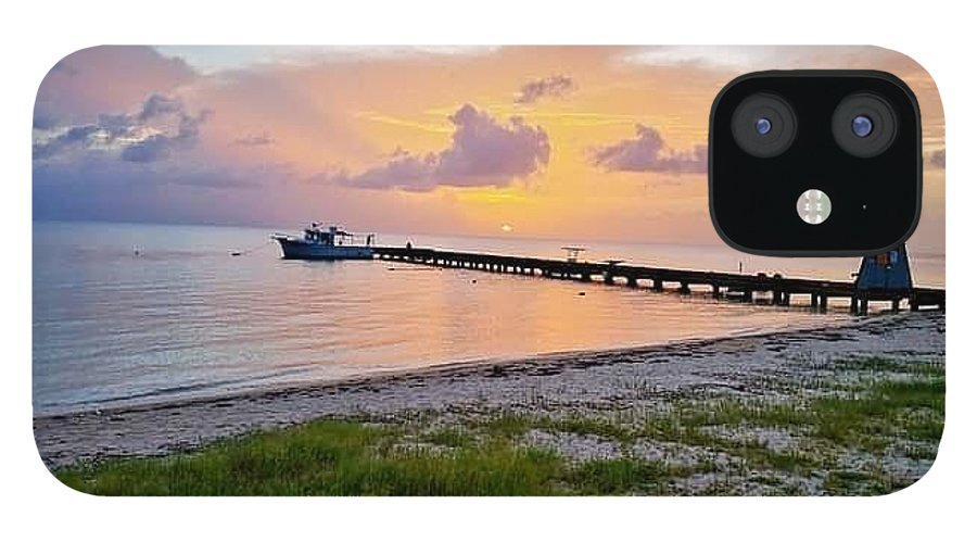 Sunset IPhone 12 Case featuring the photograph Sunset at the beach by De Aventureo