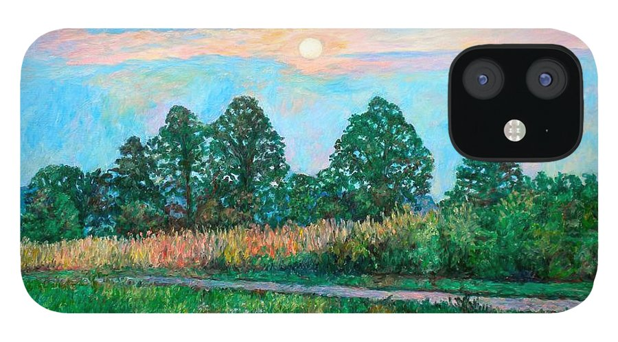 Kendall Kessler IPhone 12 Case featuring the painting Sunset Near Fancy Gap by Kendall Kessler