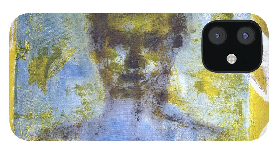 Figure IPhone 12 Case featuring the painting The Comfortable Box by Ingrid Torjesen