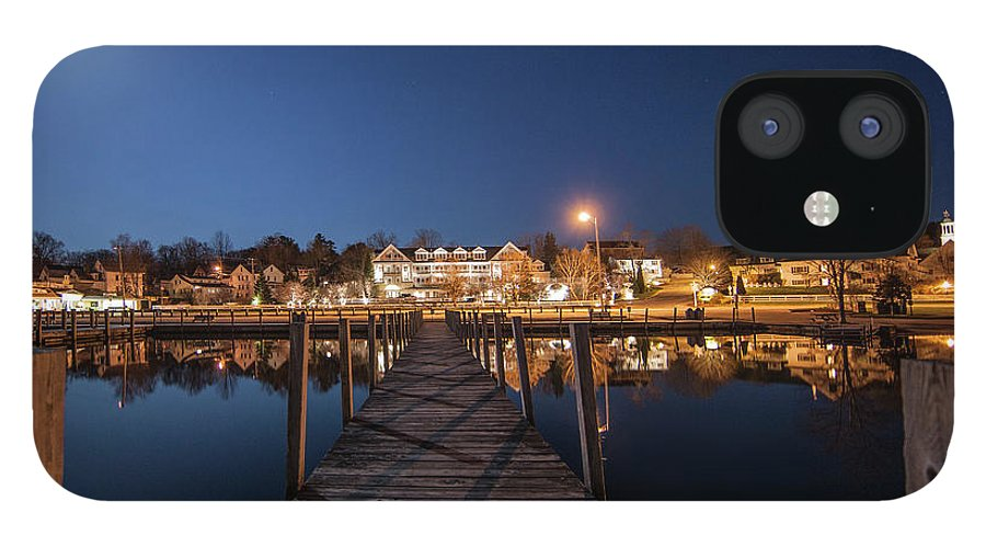 Docks IPhone 12 Case featuring the photograph The Docks - Meredith, NH by Trevor Slauenwhite