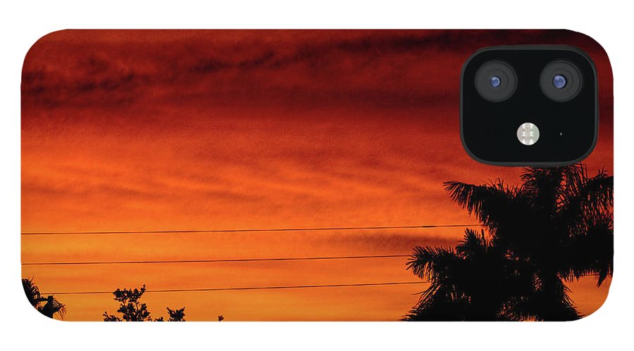 Sunset IPhone 12 Case featuring the photograph The Fire sky by Daniel Cornell