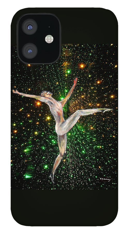 Dance IPhone 12 Case featuring the painting The Light Fantastic Dance and Stars by Tom Conway