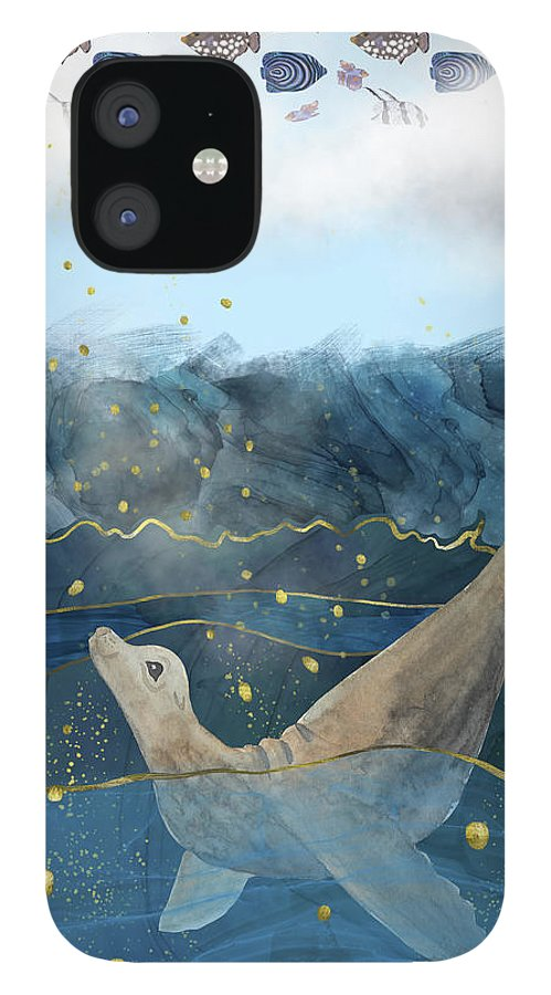 Global Warming IPhone Case featuring the digital art The Sea Lion's Dream - Climate Change Reality by Andreea Dumez