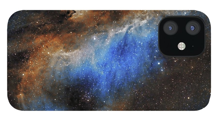 Astronomy IPhone 12 Case featuring the photograph The Seagull Nebula by Prabhu Astrophotography