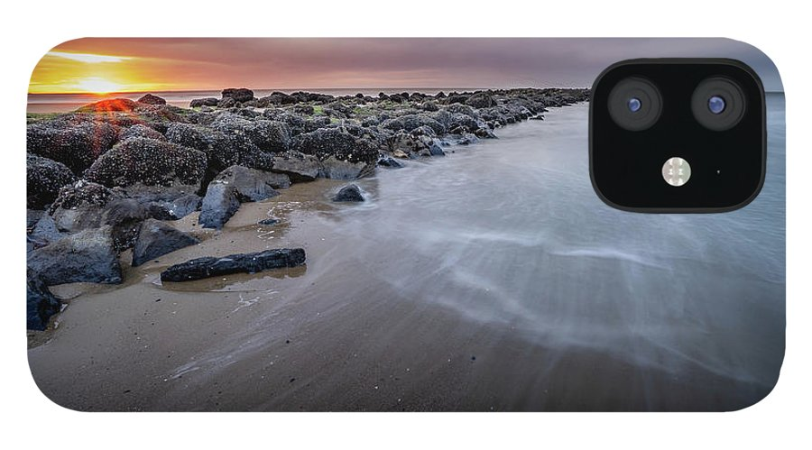 Beach IPhone 12 Case featuring the photograph Time at the beach by Axel Libertatia