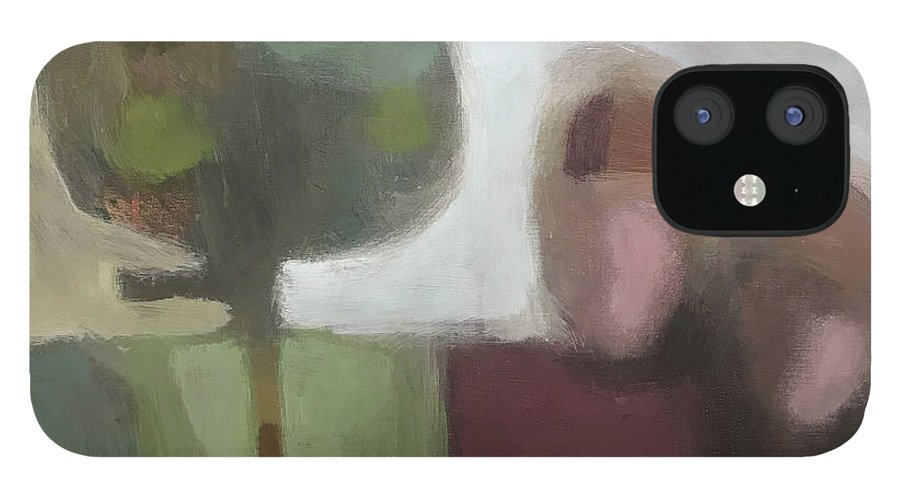 Landscape IPhone 12 Case featuring the painting Together by Farhan Abouassali