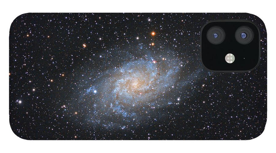 Galaxy IPhone 12 Case featuring the photograph Triangulum Galaxy by Prabhu Astrophotography