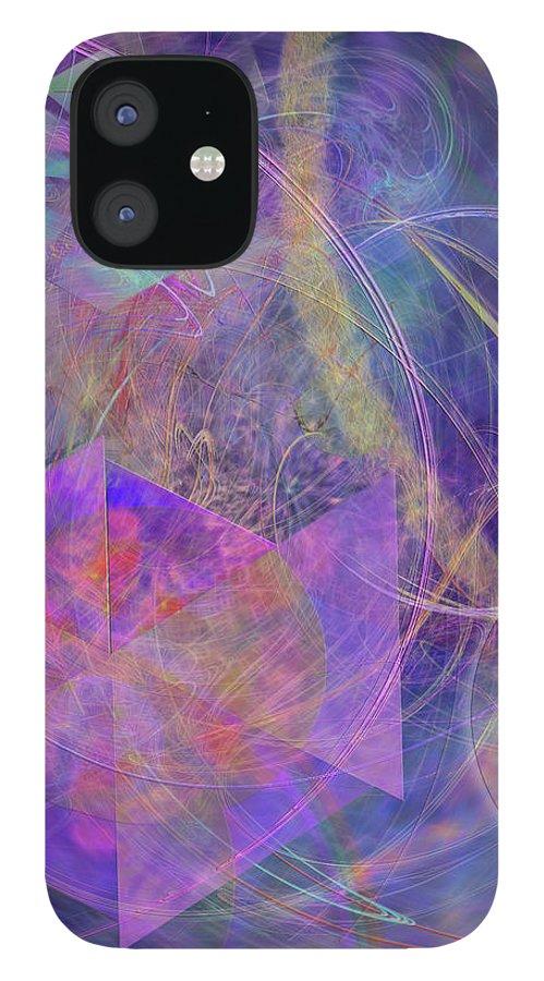 Turbo Blue IPhone 12 Case featuring the digital art Turbo Blue by John Robert Beck