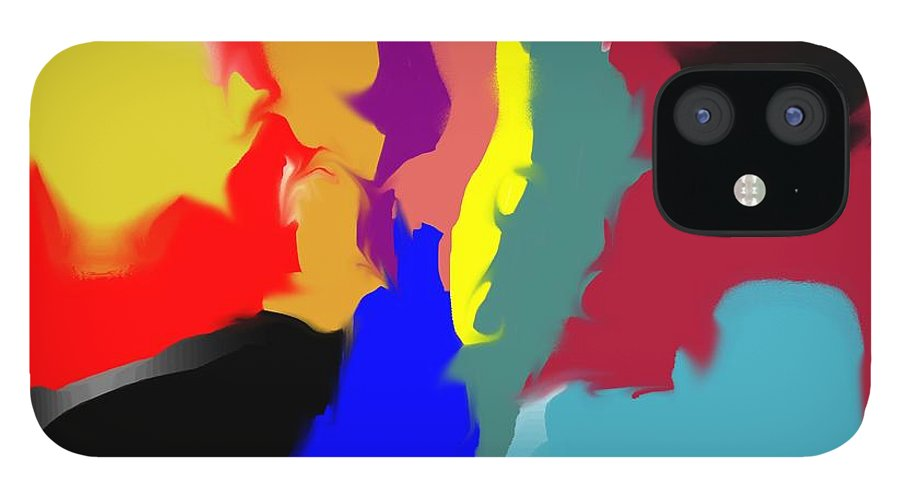 Abstract IPhone 12 Case featuring the digital art Two Peas in a Pod by Pharris Art