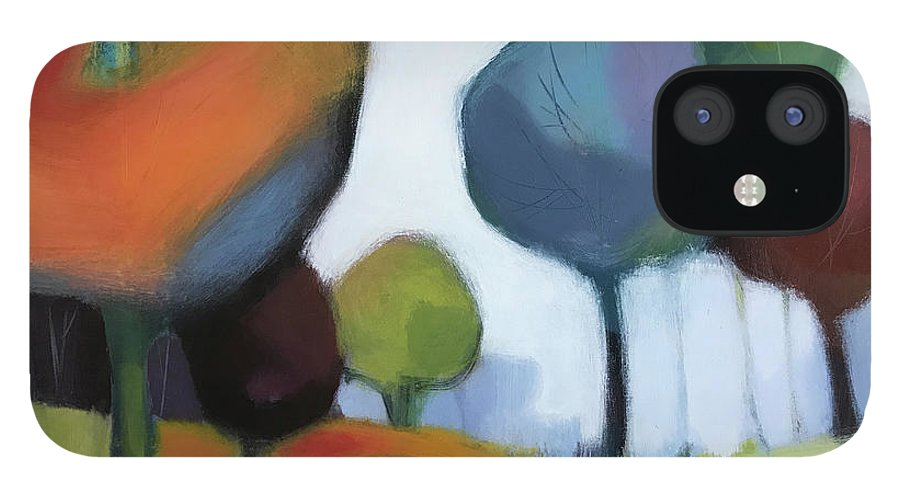 Landscape iPhone 12 Case featuring the painting Untitled III by Farhan Abouassali