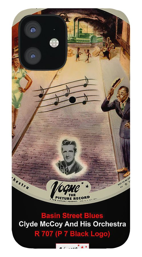Vogue Picture Record IPhone 12 Case featuring the digital art Vogue Record Art - R 707 - P 7, Black Logo by John Robert Beck