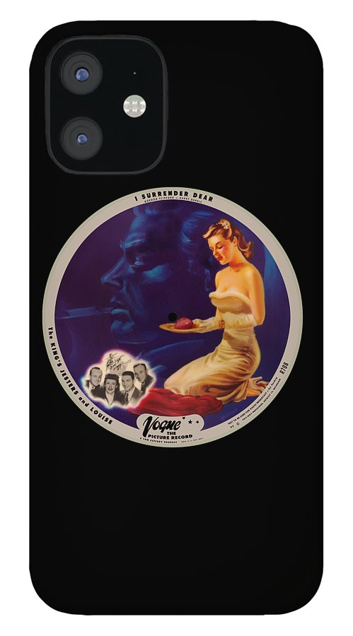 Vogue Picture Record IPhone 12 Case featuring the digital art Vogue Record Art - R 708 - P 3 - Square Version by John Robert Beck