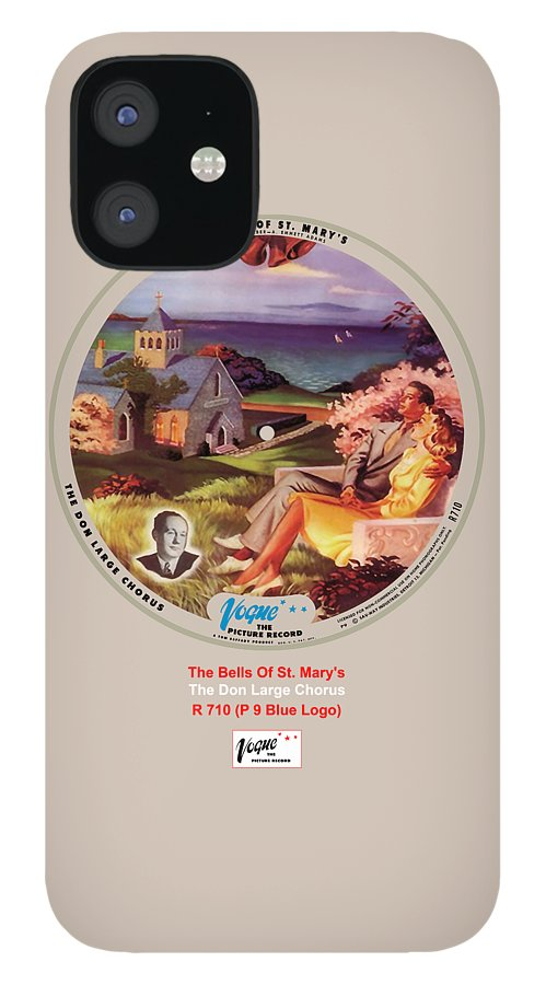 Vogue Picture Record IPhone 12 Case featuring the digital art Vogue Record Art - R 710 - P 9, Blue Logo by John Robert Beck