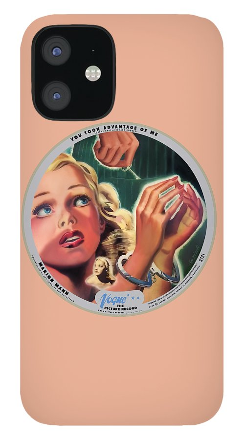 Vogue Picture Record IPhone 12 Case featuring the digital art Vogue Record Art - R 731 - P 105 - Square Version by John Robert Beck