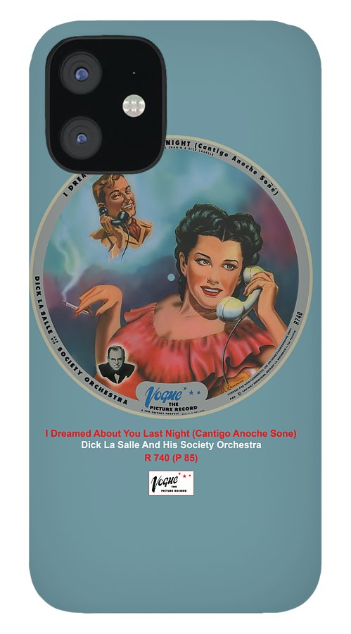 Vogue Picture Record IPhone 12 Case featuring the digital art Vogue Record Art - R 740 - P 85 by John Robert Beck