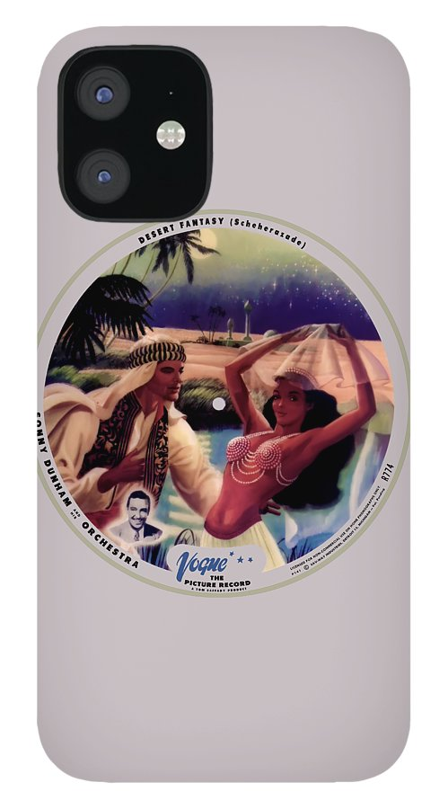 Vogue Picture Record IPhone 12 Case featuring the digital art Vogue Record Art - R 774 - P 141 - Square Version by John Robert Beck