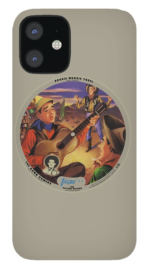 Vogue Picture Record IPhone 12 Case featuring the digital art Vogue Record Art - R 786 - P 52 - Square Version by John Robert Beck