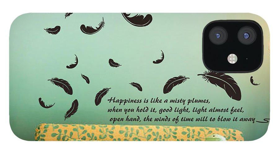 IPhone 12 Case featuring the digital art Wall art by Wild
