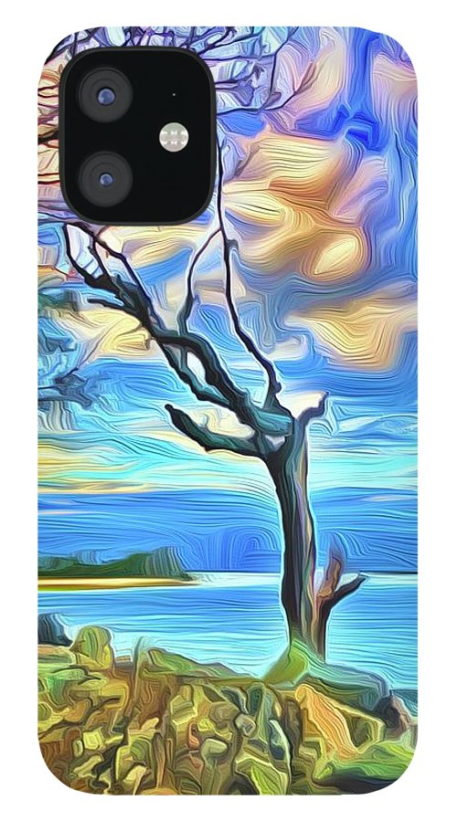 IPhone 12 Case featuring the digital art Watchman by Michael Stothard