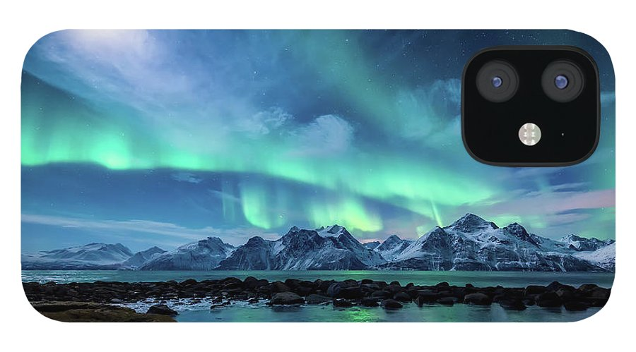 Moon iPhone 12 Case featuring the photograph When the moon shines by Tor-Ivar Naess
