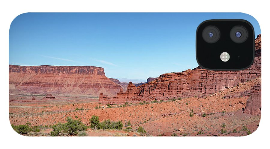 Fisher Towers IPhone 12 Case featuring the photograph Wild Utah Landscape by Jim Thompson
