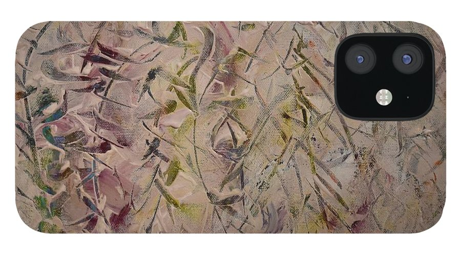 Light IPhone 12 Case featuring the painting Winter Light by Pam Roth O'Mara