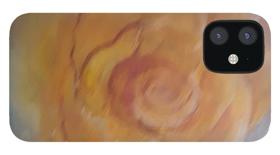 Pink IPhone 12 Case featuring the painting Yellow Rose by Carol P Kingsley