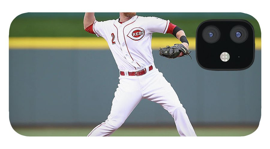 Great American Ball Park iPhone 12 Case featuring the photograph Zack Cozart by Andy Lyons