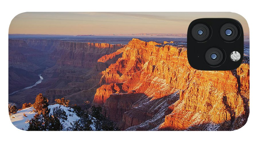 American Southwest IPhone 12 Pro Max Case featuring the photograph Desert View at Sunset by Todd Bannor