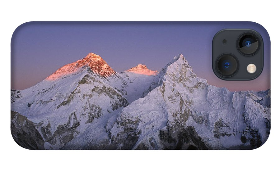Feb0514 iPhone 13 Case featuring the photograph Moon Over Mount Everest Summit by Grant Dixon
